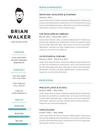 Creative And Minimalistic Personal Vector Resume Cv Template Art Illustration
