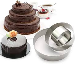 3 stöckige runde mehrschichtige kuchen backformen edelstahl 3 größen ringe mousse kuchenringe runde form 3er set
