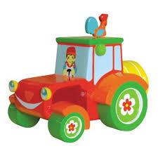 Coloriage Tracteur Tom En Porteur Tracteur Avec Remorque Tondeuse La Grande Récré Coloriage Tracteur Tom