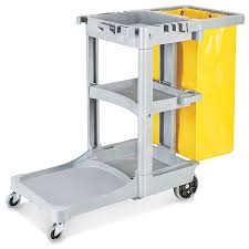 Uline Janitor Cart In Stock