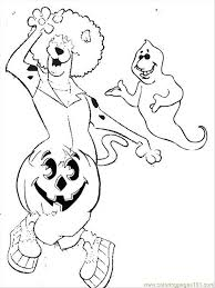 Scooby Doo Halloween Coloring Page