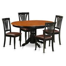 5 Pc Dining Room Set For 4-Oval Dinette Table With Leaf And 4 Dining ... Art Fniture Belmar New Pine Round Ding Table Set With Camden Roundoval Pedestal By American Drew Black Or Mackinaw Oval Single With Leaf Tables Antique And Chairs Timhangtotnet Shop 7piece And 6 Solid Free Delfini Drop Espresso Pallucci Rotmans Amish Miami Two Leaves Of America Harrisburg 18 Inch The Beacon Grand Cayman Lavon W18 Intertional Concepts Sophia 5piece White