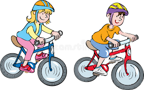 Two Kids On Bikes Stock Vector
