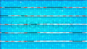 Paths For Dip In The Pool Top View Texture Of Water Swimming Flat Lay Reflexion On Surface Blue Ripped Olympic Sport