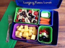 Ladybug Pasta School Lunch