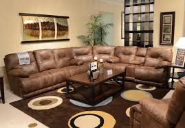 Brown Living Room Decorating Ideas by Sectional Brown Leather Reclining Sofa Sets With Brown Sectional