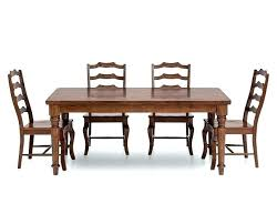 Dining Tables Farm Table Furniture Row 5 Room Set With Ladder Back Side Chairs Unfinished Farmhouse And Kitchens West Elm