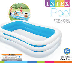 100 Kd Pool INTEX INFLATABLE SWIM CENTER FAMILY POOL 262M X 175M X 56CM