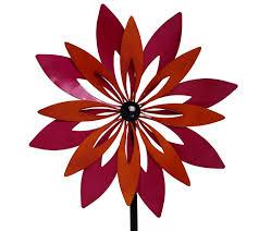 Plow Hearth Set Of 3 Flower Garden Spinners