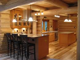marble countertops log cabin kitchen cabinets lighting flooring