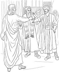 Jesus Heals A Man With Withered Hand Coloring Page