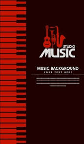 Studio Music Banner Design Dark Color Symbol Elements Free PNG And PSD