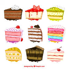 Hand painted cakes collection Free Vector