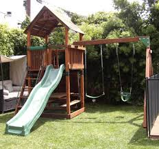 Inspirations: Create Creativity Your Child With Backyard ... Playsets Swing Sets Parks Playhouses The Home Depot Backyard Discovery Prescott Cedar Wooden Set Picture With Home Decor Fantastic Frame Garden Inspiring Outdoor Playground Design Ideas Lowes Kids Playhouseturn Our Swing Set Into This Maybe Shop At Lowescom Somerset Wood Image Breathtaking Swings Slides Toys Walmartcom Ipirations Create Creativity Your Child