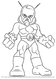 Learn How To Draw Ant Man From The Super Hero Squad Show Step By Drawing Tutorials