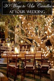 Country Rustic Candle Wedding Lights Ideas