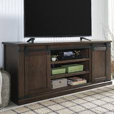 At HOME Budmore Extra Large TV Stand In Rustic Brown