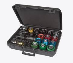 100 Snap On Tool Truck Locator SVTA17000A 17 Pc Anodized Aluminum Cooling System Adaptor Kit