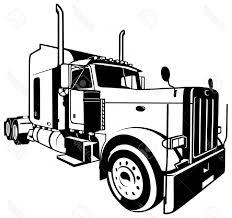 Photostock Vector American Truck Black Outlined Illustration Vector ... Big Blue 18 Wheeler Semi Truck Driving Down The Road From Right To Retro Clip Art Illustration Stock Vector Free At Getdrawingscom For Personal Use Silhouette Artwork Royalty 18333778 28 Collection Of Trailer Clipart High Quality Free Cliparts Clipart Long Truck Pencil And In Color Black And White American Haulage With Blue Cab Image Green Semi 26 1300 X 967 Dumielauxepicesnet Flatbed Eps Pie Cliparts