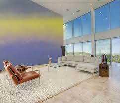 wandgestaltung mit farbe ideen ombre streichen wohnzimmer
