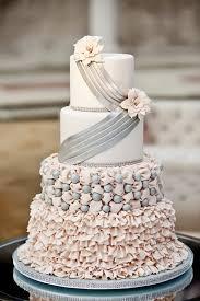 Ruffles Sparkles Wedding Cake