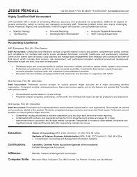 Inspiration Resume Junior Accountant Sample New Accounting Unique Staff
