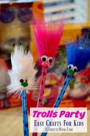Trolls Party Ideas Easy Crafts For Kids Plus A Hasbro Toy Giveaway
