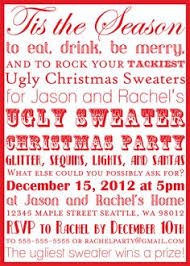 Printable Ugly Christmas Sweater Party Subway Art Invitation Download Picture DYI Print Tell Your Guests