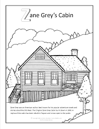 Log Cabin Coloring Page Medium Size Large