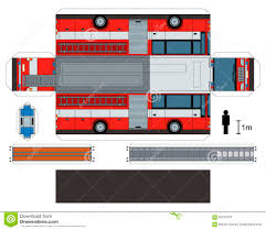 Paper Model Of A Fire Truck Stock Vector - Illustration Of Scissors ...