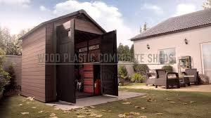Keter Storage Shed Home Depot by Wood Plastic Composite Shed Keter Fusion Youtube