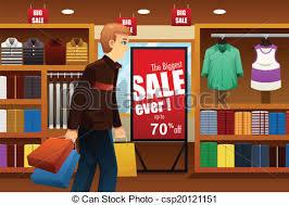 Man Shopping At Mall Vector