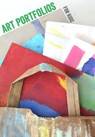 Make Recycled Art Portfolios For Kids