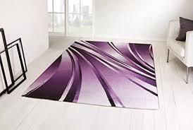 taracarpet moderner designer teppich parma kurzflor abstrakt 9210 lila violett rosa 080x300 cm