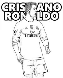 Cristiano Ronaldo Football Player Coloring Page