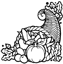 Thanksgiving Vegetables And Fruit Coloring Page For Children