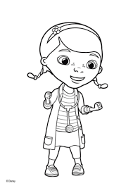 Dottie Mcstuffins Coloring Page Free Printable Pages With Doc