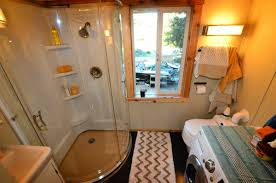 Five Cool Tiny House Bathrooms - Tiny Home Builders Tiny Home Interiors Brilliant Design Ideas Wishbone Bathroom For Small House Birdview Gallery How To Make It Big In Ingeniously Designed On Wheels Shower Plan Beuatiful Interior Lovely And Simple Ideasbamboo Floor And Bathrooms Alluring A 240 Square Feet Tiny House Wheels Afton Tennessee Best 25 Bathroom Ideas Pinterest Mix Styles Traditional Master Basic
