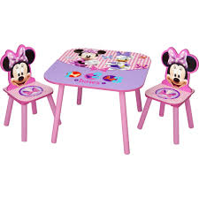 Minnie Mouse Room Decorations Walmart by Disney Minnie Mouse 3 Pc Table And Chair Set Chairs U0026 Play
