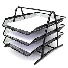NEW Metal Document Trays A4 Paper fice Mesh Document File Paper