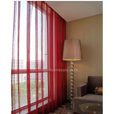 Clearance Red Dining Room Patterned Window Panels Privacy Sheer Curtain
