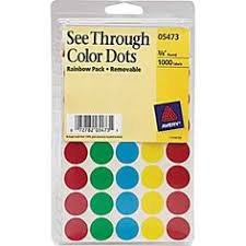 See Through Labels Assorted Colors