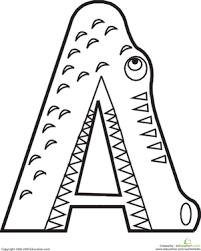 Color The Alligator Letter A