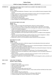 Download Records Manager Resume Sample As Image File