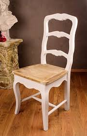 vintage stuhl holz shabby chic weiss palazzo exclusiv
