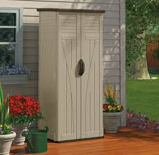 Outdoor Storage Cabinet Garden Shed Tools Patio Vertical Backyard