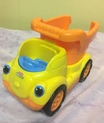 100 Little People Dump Truck Fisher Price Kids Toy Orange Yellow Works