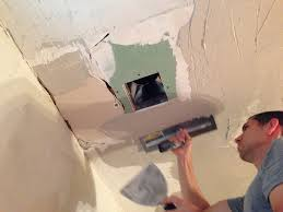 Skim Coat Ceiling Vs Plaster Ceiling by Plaster Repair For Diyers No Need To Rip It Out Old Town Home