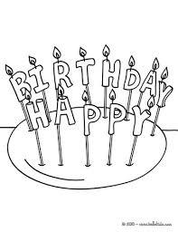 Birthday candle 1 year Happy birthday candles coloring page Coloring page BIRTHDAY coloring pages Birthday candles coloring