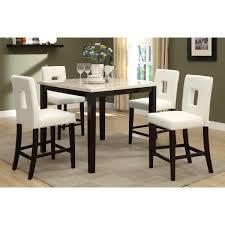Shop Savona 5piece Cream Rich Brown Counterheight Dining Set